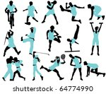sports people | Shutterstock .eps vector #64774990