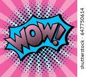 pop art styled cartoon wow ... | Shutterstock .eps vector #647750614