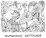 vector illustration zentangl... | Shutterstock .eps vector #647751409