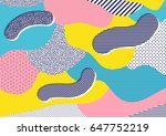 creative geometric colorful... | Shutterstock .eps vector #647752219