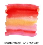 hand drawn watercolor shape for ... | Shutterstock . vector #647755939