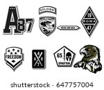 set of army badge typography  t ... | Shutterstock .eps vector #647757004