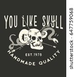 you like skull.handmade vintage ...   Shutterstock .eps vector #647759068