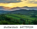 spring forest and meadows... | Shutterstock . vector #647759104