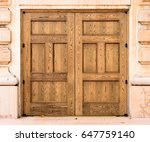 Old Wooden Doors On Old...