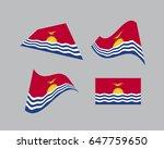flag of kiribati  national...   Shutterstock .eps vector #647759650