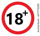 under eighteen prohibition sign ... | Shutterstock .eps vector #647773300