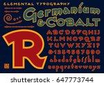 germanium   cobalt is an a... | Shutterstock .eps vector #647773744