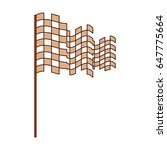 checkered flag isolated icon   Shutterstock .eps vector #647775664