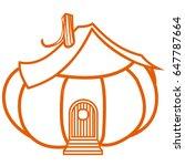 pumpkin house   Shutterstock .eps vector #647787664