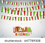 greeting card for italian... | Shutterstock .eps vector #647789308