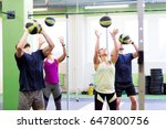 fitness  sport and exercising... | Shutterstock . vector #647800756