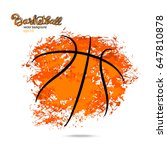 abstract background  basketball ... | Shutterstock .eps vector #647810878