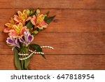 A Small Bouquet Of Alstroemeri...