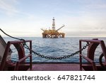 an offshore oil installation.... | Shutterstock . vector #647821744