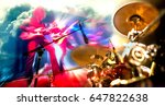 abstract musical background... | Shutterstock . vector #647822638