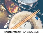 live music background in... | Shutterstock . vector #647822668
