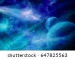 original 2d illustration. space ... | Shutterstock . vector #647825563