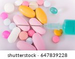 different tablets pills capsule ... | Shutterstock . vector #647839228