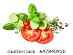 composition of vegetables ... | Shutterstock . vector #647840920
