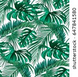 seamless pattern of tropical... | Shutterstock .eps vector #647841580