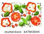 composition of vegetables ... | Shutterstock . vector #647843044