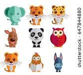 a mega icon set of elephant ... | Shutterstock . vector #647844880