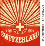 Switzerland Vintage Old Poster...
