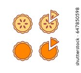 pie icons set  isolated vector... | Shutterstock .eps vector #647850598