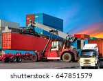 industrial logistics containers ... | Shutterstock . vector #647851579