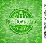 free download green emblem with ...