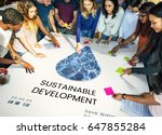 save the planet sustainable... | Shutterstock . vector #647855284