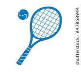 tennis racket and ball vector... | Shutterstock .eps vector #647858944
