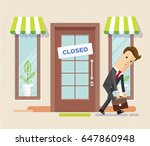 businessman has become bankrupt ... | Shutterstock .eps vector #647860948