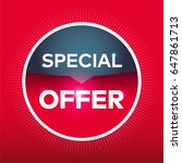special offer red blue circle... | Shutterstock .eps vector #647861713
