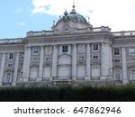 the royal palace of madrid is... | Shutterstock . vector #647862946