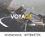 senior adult couple travel... | Shutterstock . vector #647864734