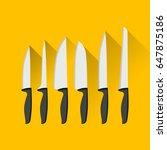 kitchen knives. flat design.... | Shutterstock .eps vector #647875186