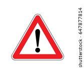 vector hazard warning alert... | Shutterstock .eps vector #647877814