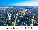 twilight scene of cityscape of... | Shutterstock . vector #647879830