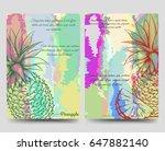 bright brochure flyer vector... | Shutterstock .eps vector #647882140