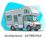 recreational vehicle. camper.... | Shutterstock .eps vector #647882464