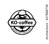 label coffee boxing emblem logo ...