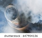 exhaust gas from a car with... | Shutterstock . vector #647904136