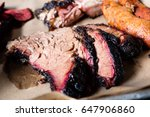 slow smoke sliced beef brisket... | Shutterstock . vector #647906860