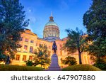 georgia state capitol building... | Shutterstock . vector #647907880