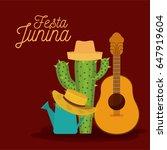 colorful poster festa junina... | Shutterstock .eps vector #647919604
