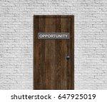 opportunity door | Shutterstock . vector #647925019