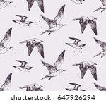 hand drawn seamless pattern... | Shutterstock .eps vector #647926294