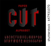 black alphabet letters cut out... | Shutterstock .eps vector #647931070